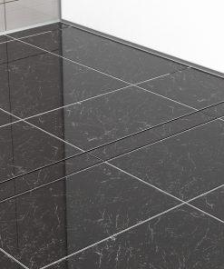 Duschrinne 700 mm, 800 mm, 900 mm befliesbar aus Edelstahl eingebaut